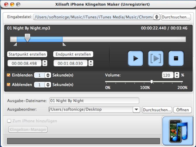 Xilisoft iPhone Klingelton Maker for Mac