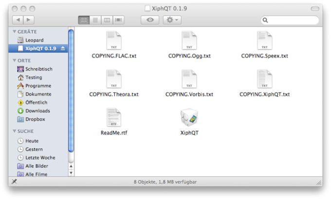 Xiph QuickTime Components
