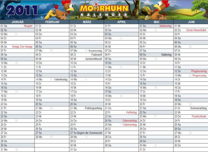 Moorhuhn Kalender