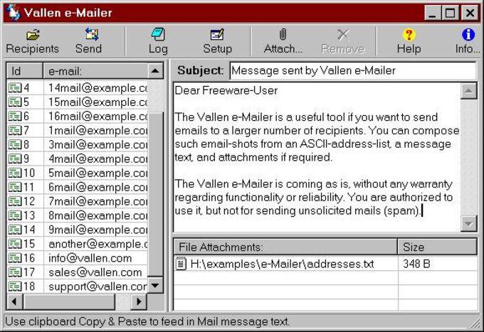 Vallen e-Mailer