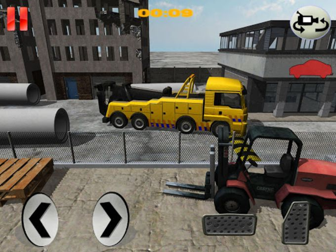 Construction Crane Parking