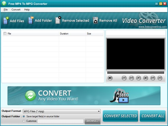 Free MP4 to MPG Converter