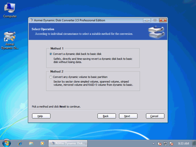 Dynamic Disk Converter 3.0 Professional Edition