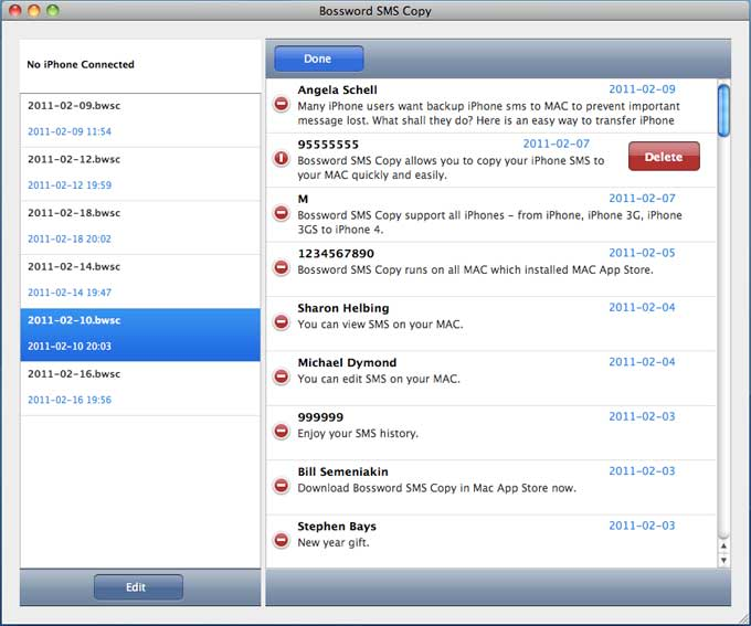 Tansee iPhone SMS Transfer for MAC
