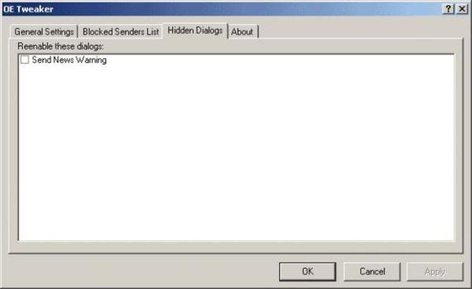 Outlook Express Tweaker