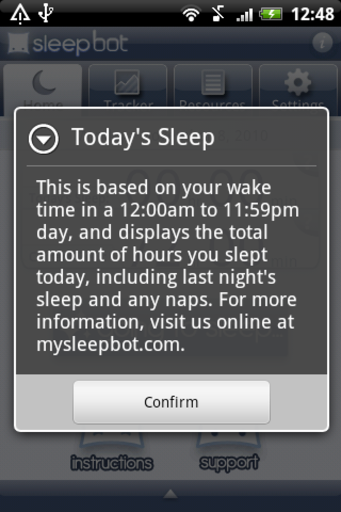 Sleep Bot Tracker Log