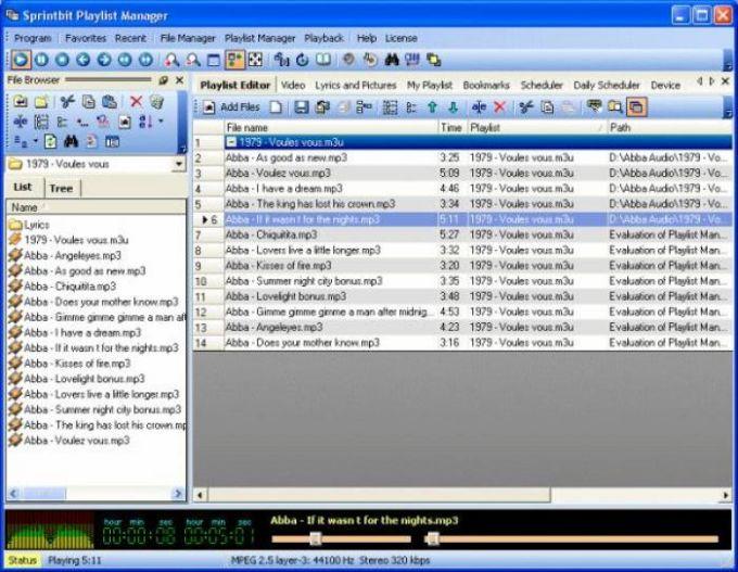 SprintBit Playlist Manager