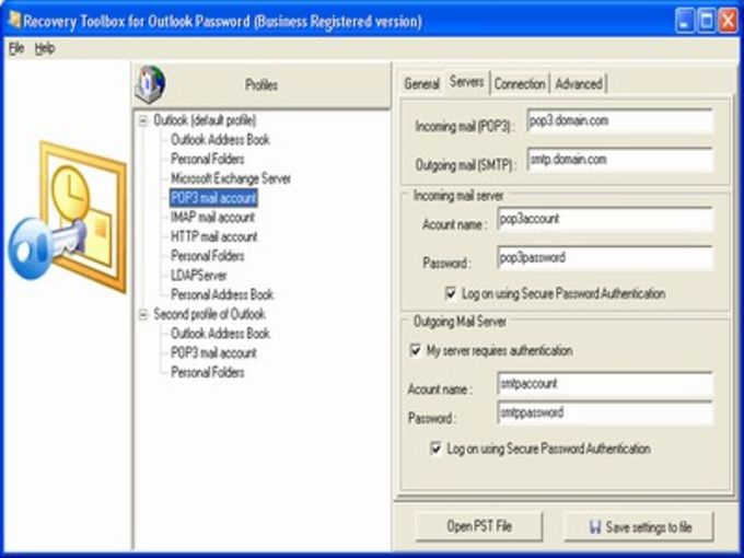 Recovery Toolbox for Outlook Password