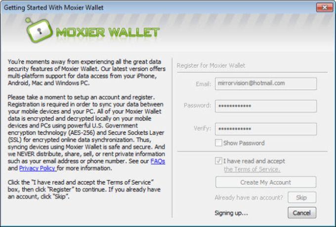 Moxier Wallet