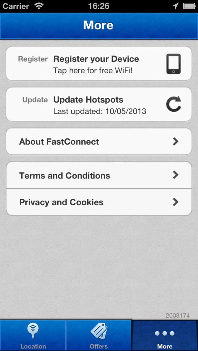 WiFi FastConnect Hotspot Locator