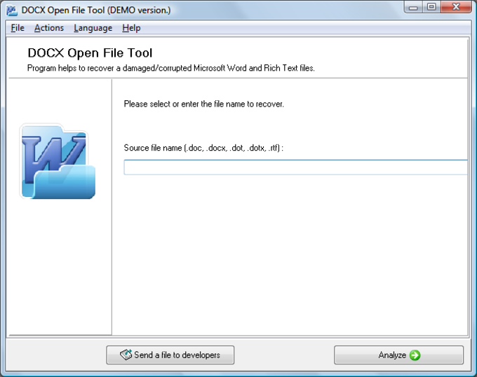 DOCX Open File Tool