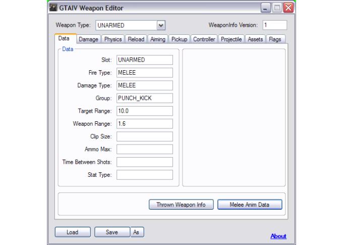 GTA IV Weapon Editor