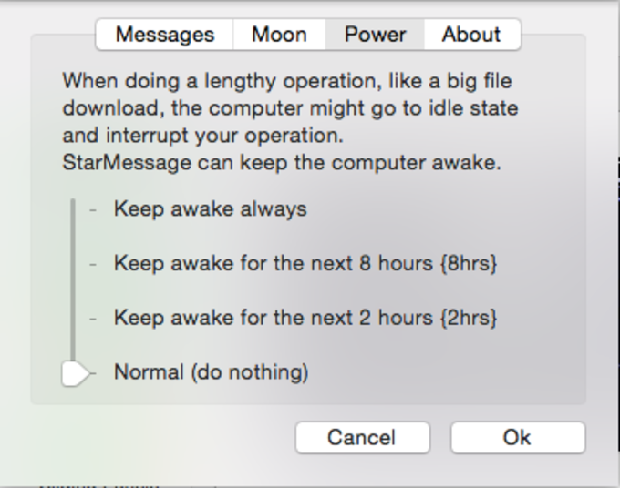 StarMessage moon phases screensaver for MAC