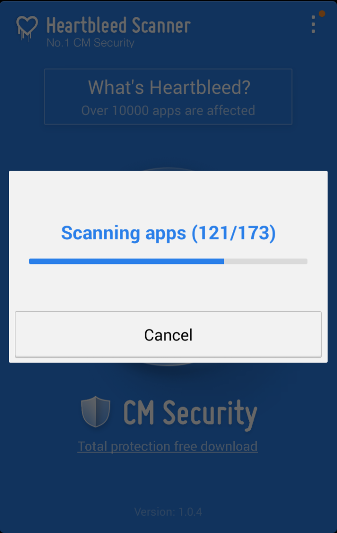 CM Security Heartbleed Scanner