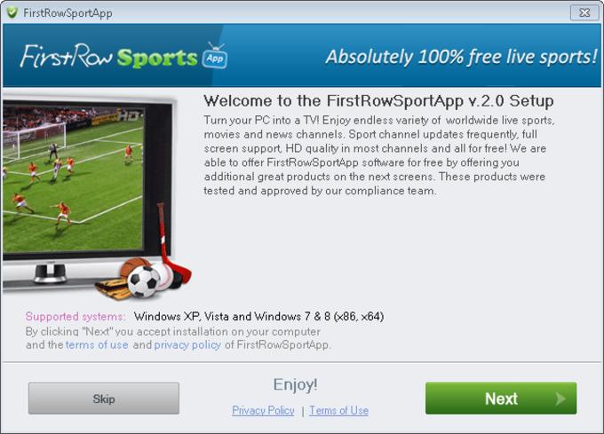 FirstRow Sport App