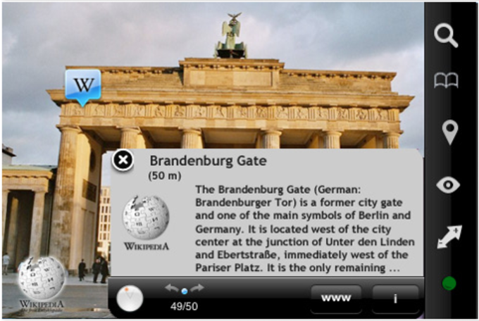 Wikitude Augmented Reality Browser