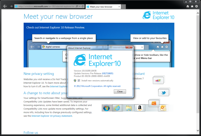 Download Internet Explorer 10 for Windows 7 - free - latest