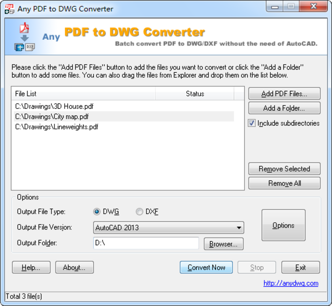 Download Any PDF to DWG Converter - free - latest version