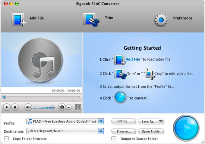 Bigasoft FLAC Converter for Mac