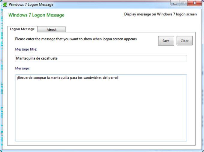 Windows 7 Logon Message