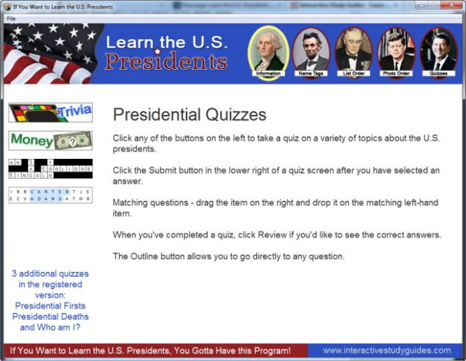 Learn the U.S. Presidents