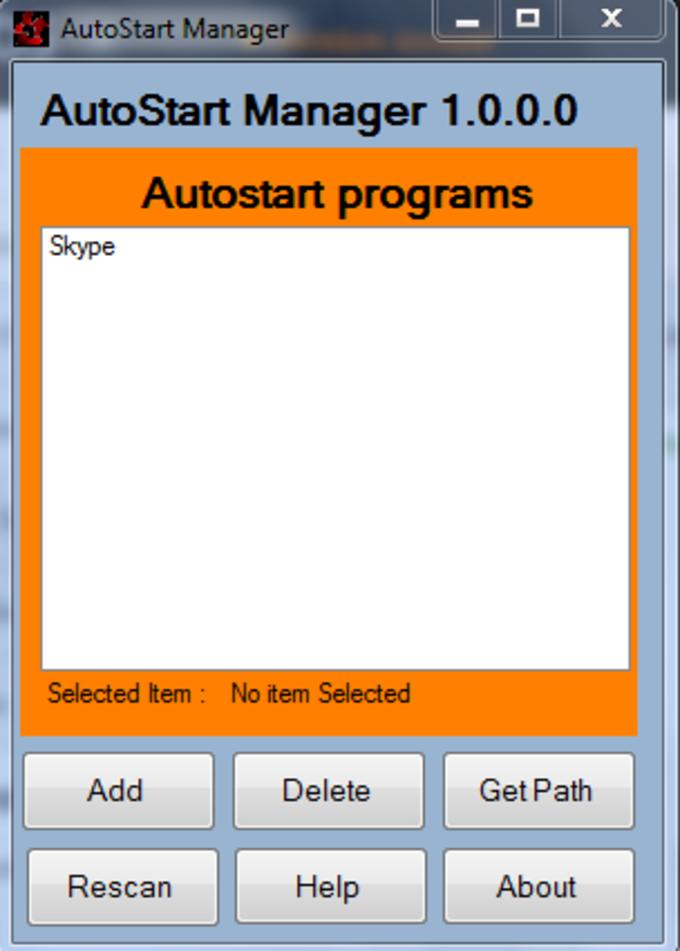 AutoStart Manager