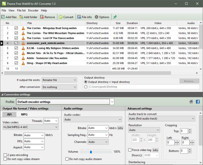 Pazera WebM to AVI Converter