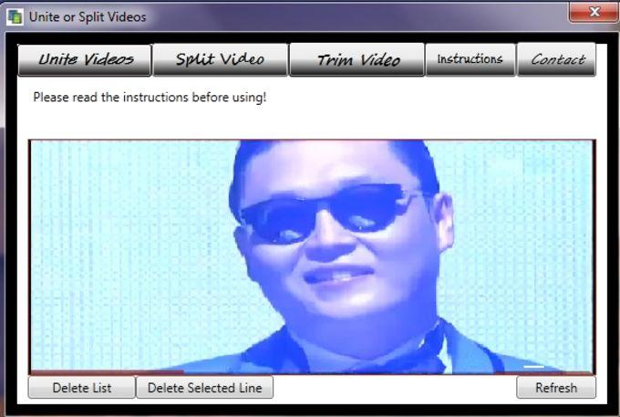 Unite or Split Videos