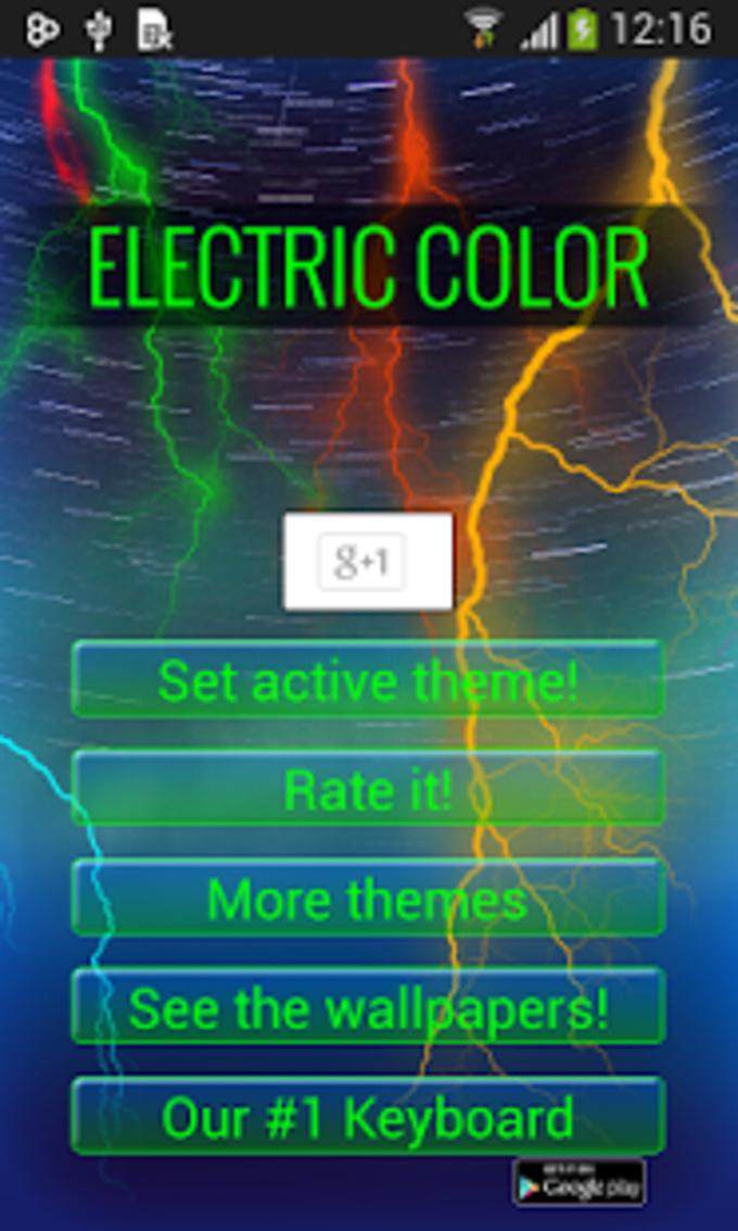 Color Eléctrica Teclado