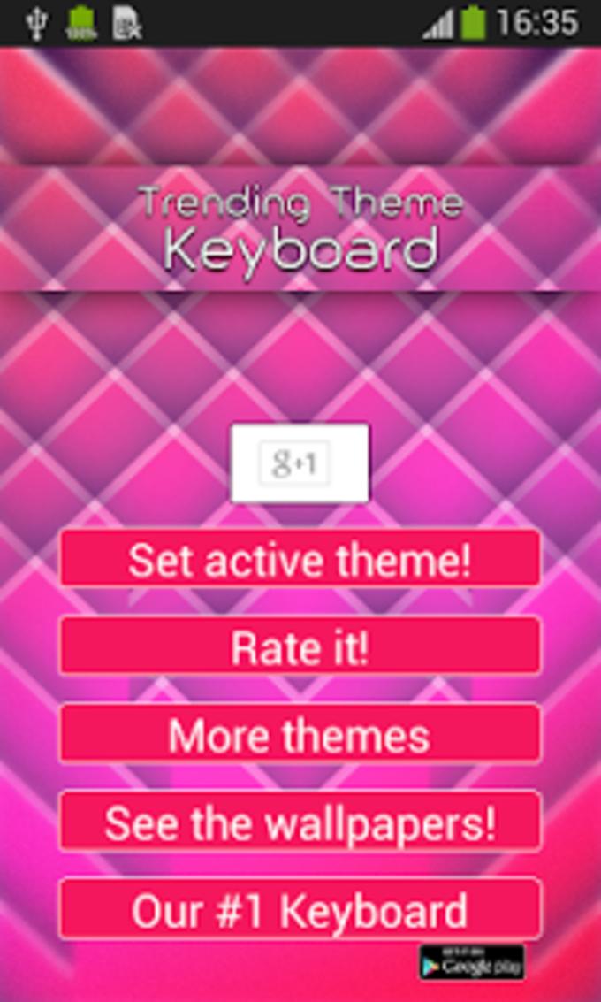 Trending tema del teclado