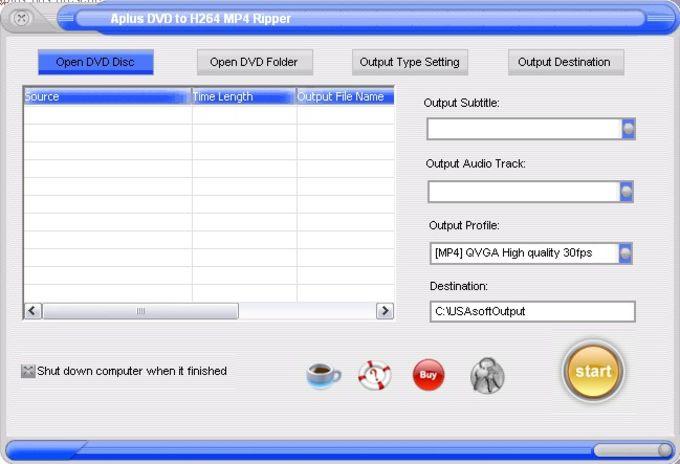 Aplus DVD to H264 MP4 Ripper