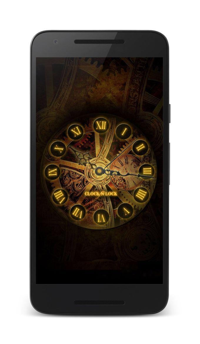 Clock N lock-Screen Lock