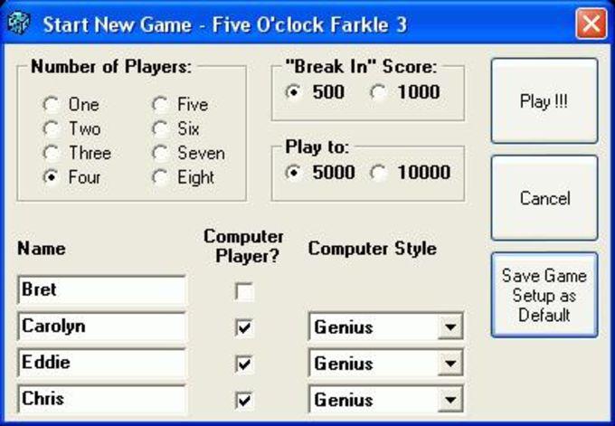 Five O'clock Farkle