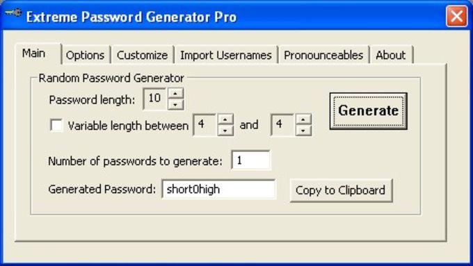 Extreme Password Generator Pro