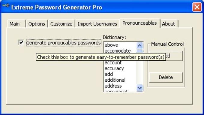 Extreme Password Generator