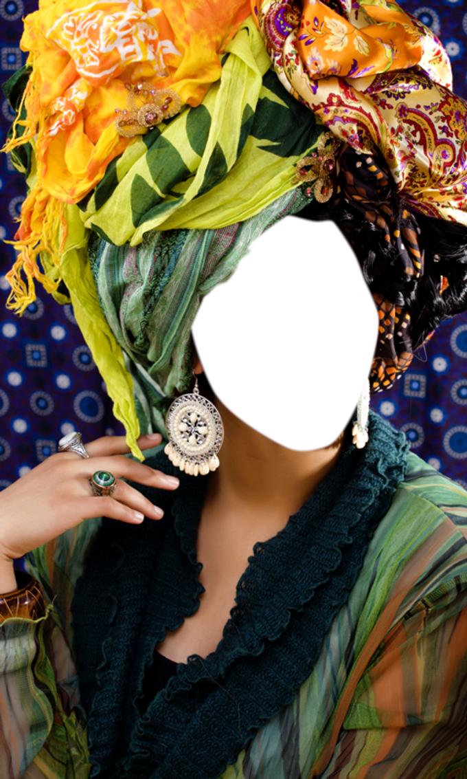 Shawl Woman Photo Montage