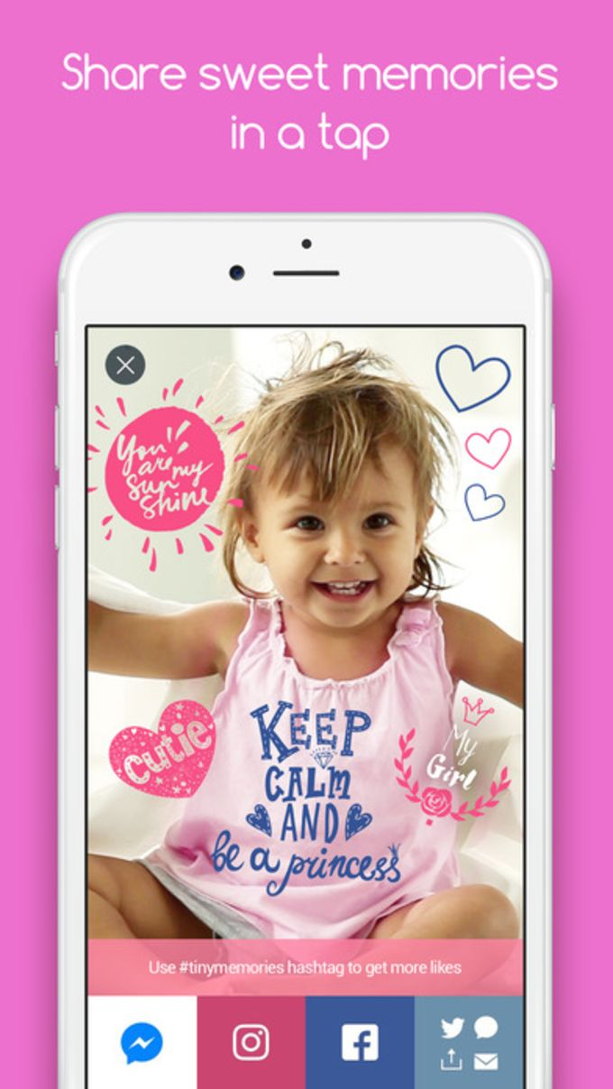 Tiny Memories - Photo Editor for Baby Pics
