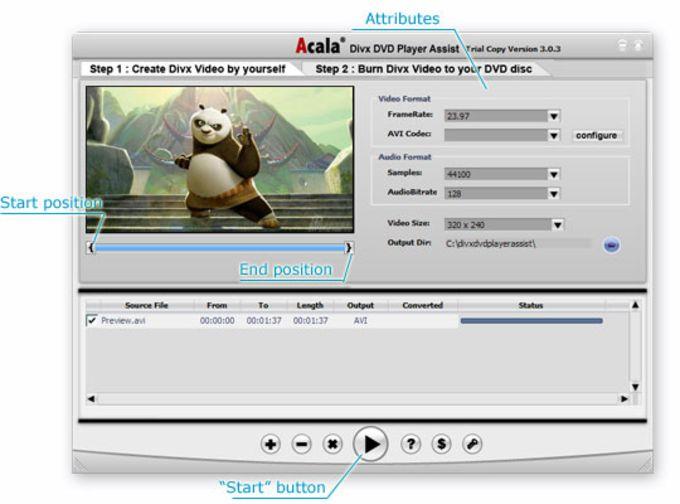 Acala DivX DVD Player Assist