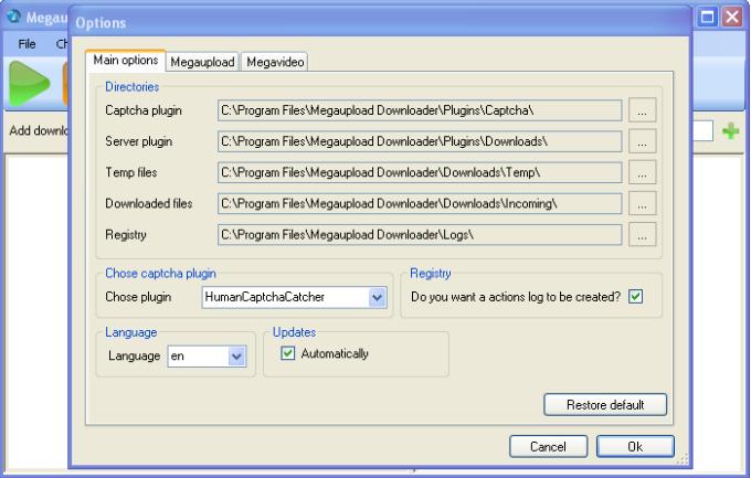 Megaupload Downloader