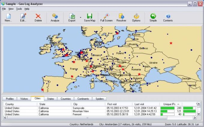 Geo Log Analyzer