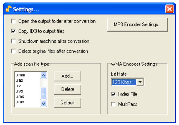 Magic RM RAM to MP3 Converter