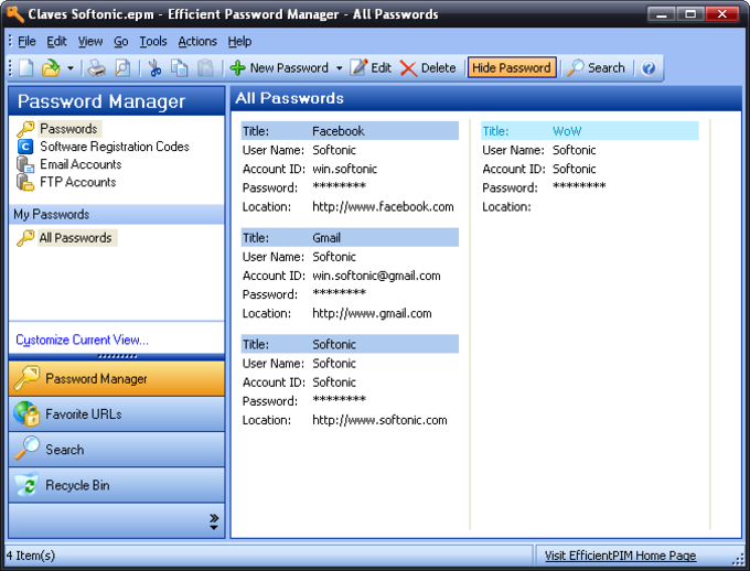 Efficient Password Manager Portable