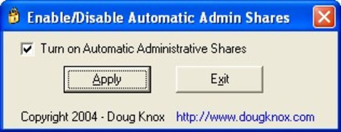 Enable Disable Automatic Admin Shares