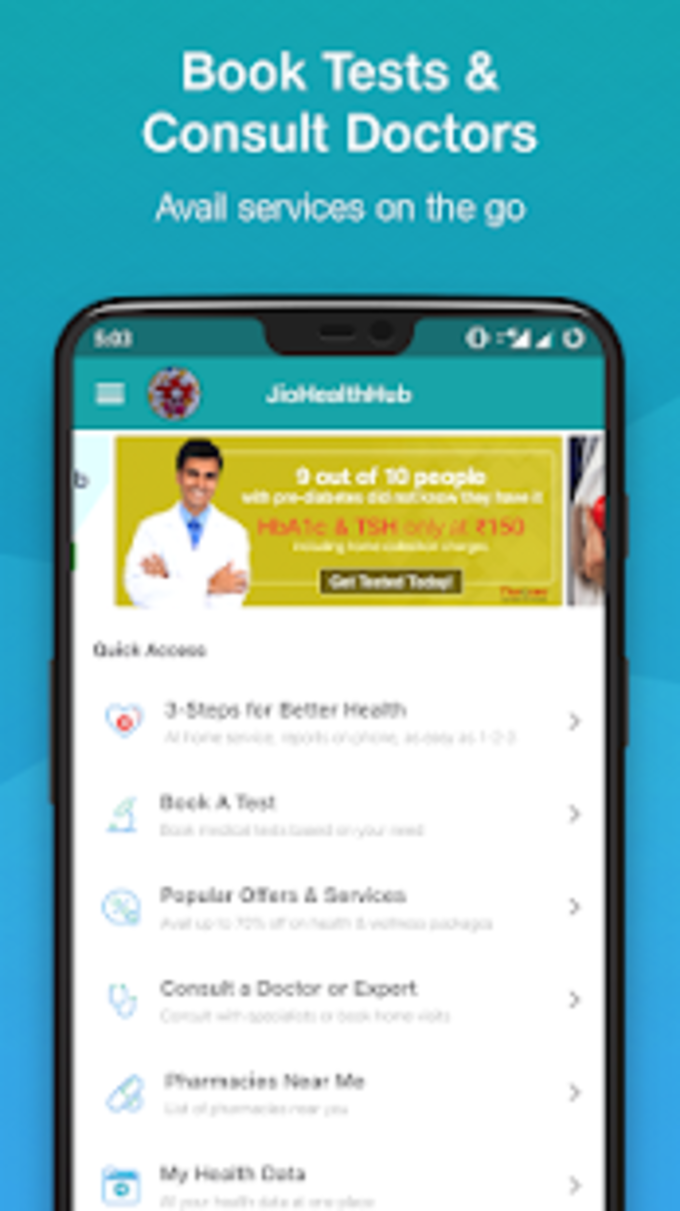 JioHealthHub: Your health companion