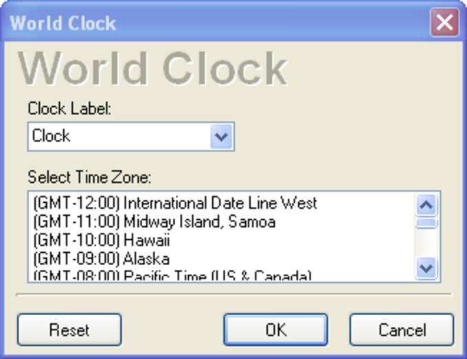 Vista Clock