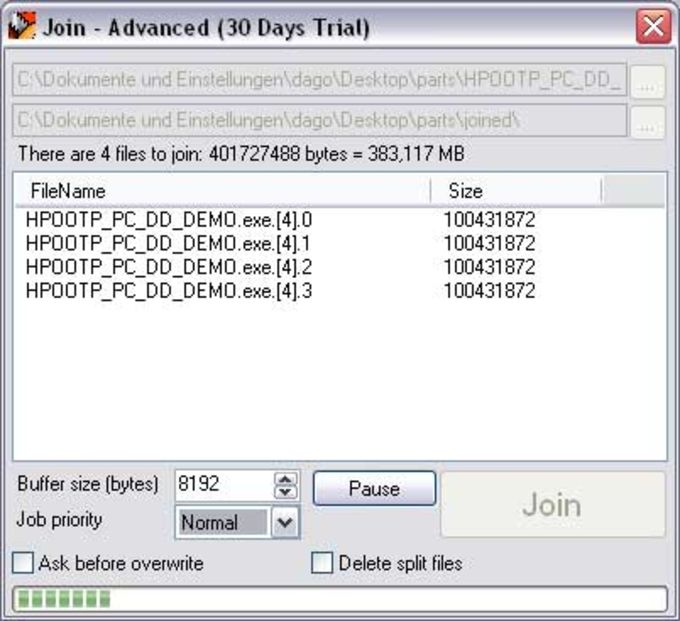 Jockersoft SplitFile