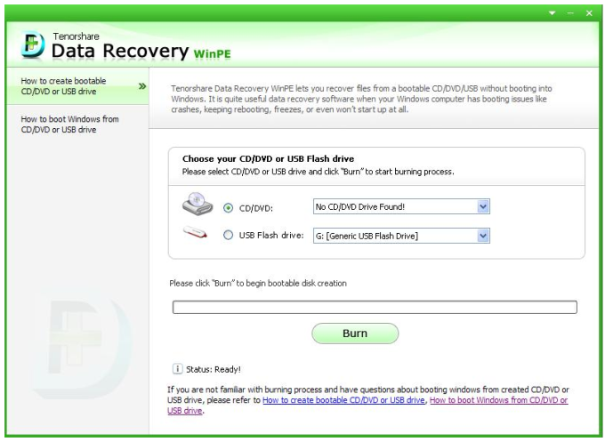 Tenorshare Data Recovery WinPE