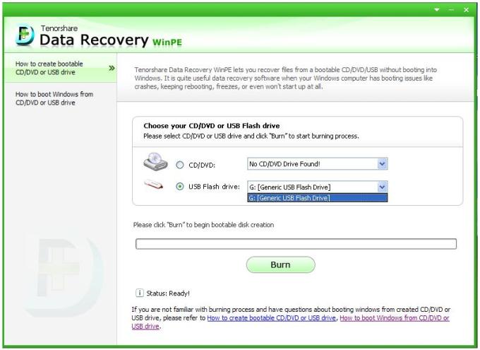 Tenorshare Data Recovery WinPE