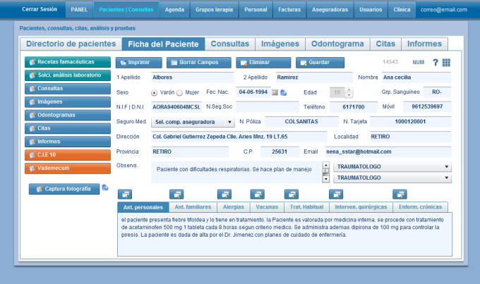 Historias Clinicas Online
