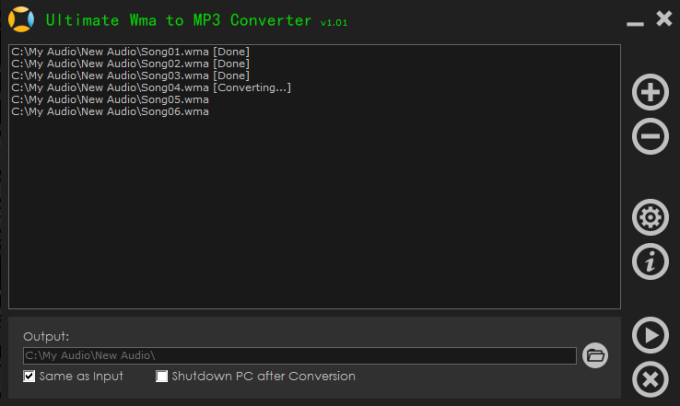 Ultimate Wma to MP3 Converter